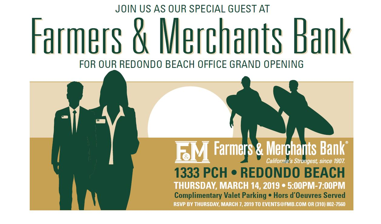 Grand Opening and Ribbon Cutting for Farmers & Merchants Bank